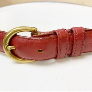 Coach Leather Belt Red Smooth Authentic